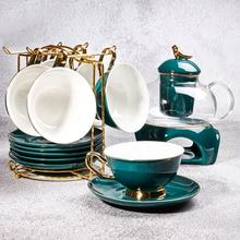 Gold-plated Coffee Cup European Bone China Small Luxury Tea Porcelain Set Ceramic Home Afternoon Tea Cup Saucer Sets