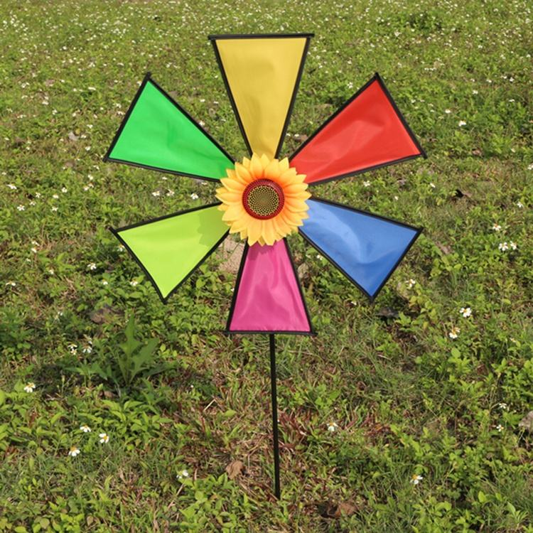 Children's Gift Toys Decoration Windmill With Fiberglass Pole