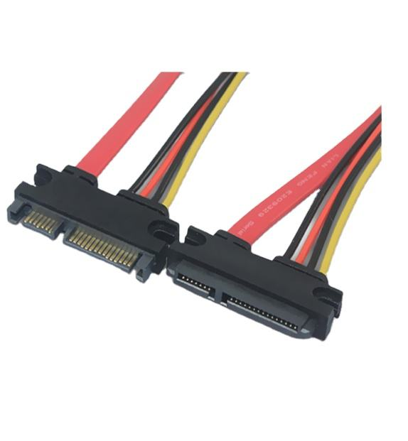 Computer power cable 30cm SAS to SATA cables 7+15