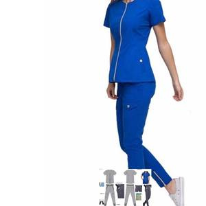 LINNA designer factory OEM new design jogger scrubs uniforms set for fashion lady Nurse Scrub Suit