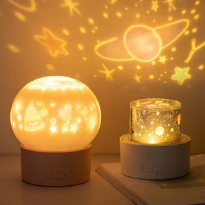 multi functional music rotatable starry sky bedroom star projector night light lamp for kids and gifts