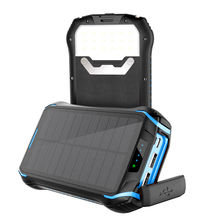 Dustproof 3A Output Waterproof Portable Wireless Solar Power Bank Qi Power Banks Solar Powerbank Charger