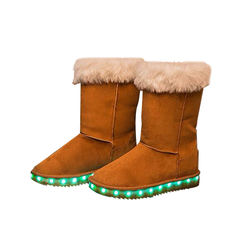 Ladies Custom Led Luminous Shoes Women Snow Boots Luxury Fashion Warm Winter Boots