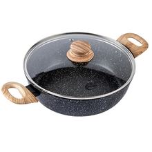Deep Frying Induction Gas Induction Round Frying Pan Pot With Lid
