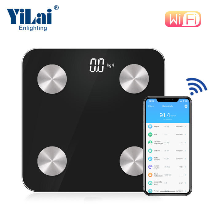 2*aaa Battery [ Weighing ] Weighing Scales Digital 180kg/396lb Digital Smart BMI Weighing Machine BIA Technology Scale Bathroom Body Fat Composition Analyzer Scales With APP