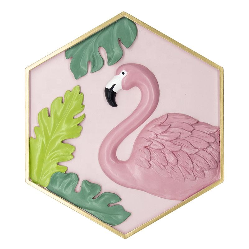 Muur Opknoping 3D Hars <span class=keywords><strong>Flamingo</strong></span> Home Decor Bloemen Wall Art Hars Kamer Decor Decorations Wall Art Voor Thuis, hotel, Sales Center