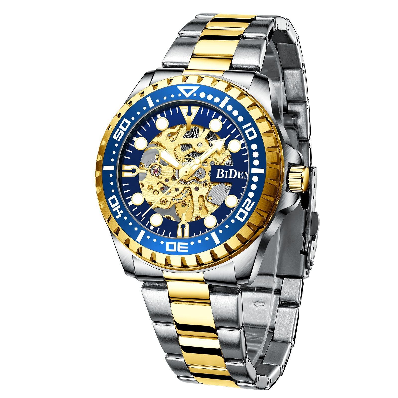 2020 latest hollow stainless steel luxury men automatic mechanical watch