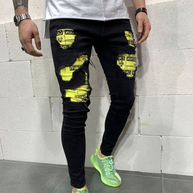 High quality men street fashion ripped style denim jeans factory wholesale price