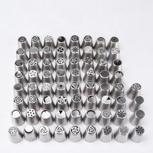 Hot Sale 68 Large Stainless Steel Russian Pastry Icing Nozzles Russian Piping Tips for Cake Decoration Cake Nozzle
