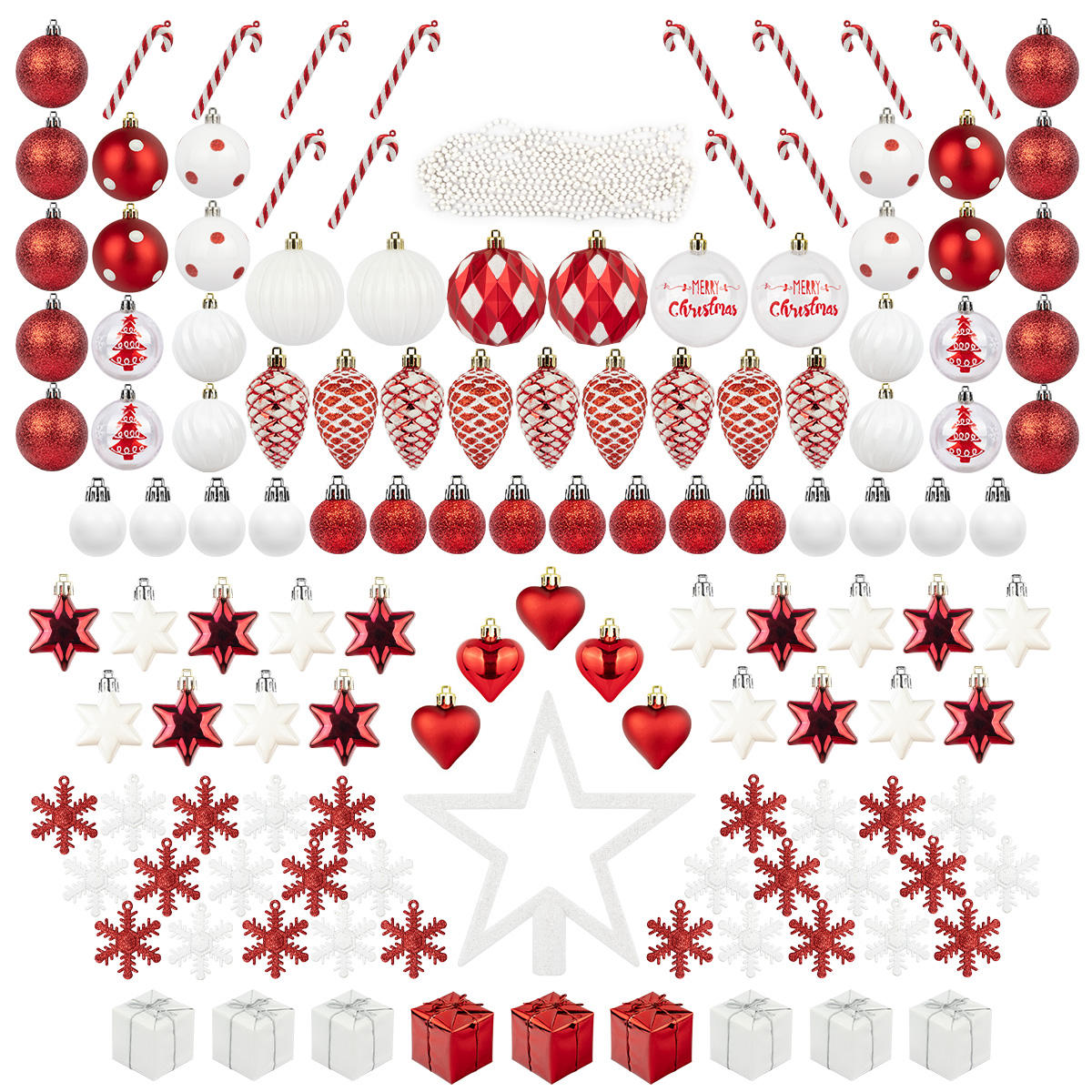 Amazon best seller 2020 nuovo ornamenti Di Natale decorazione set Completo di Natale Appeso Set Assortiti palla Di Natale set