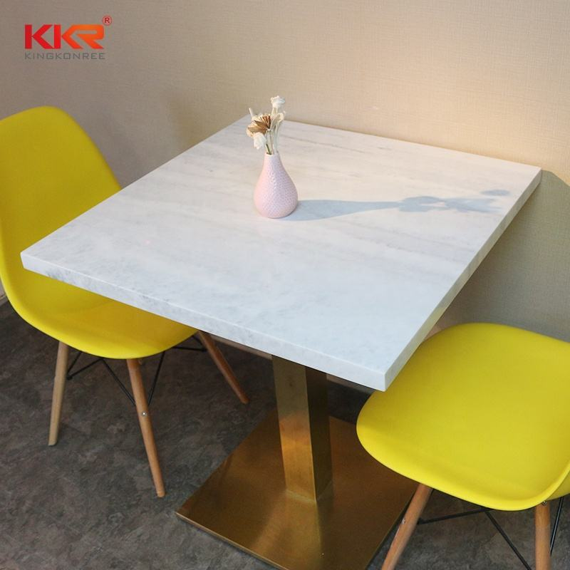 acrylic solid surface food court chairs dining tables