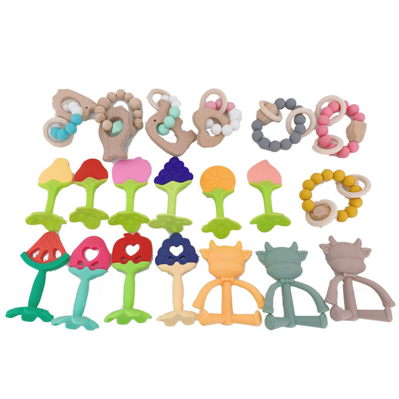 2020 New Design Food Grade Silicone Baby Teether