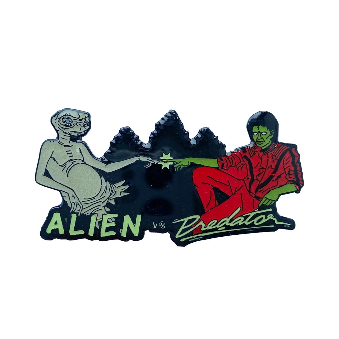 E.T and Michelson lapel pin Factory Custom enamel metal badge pins