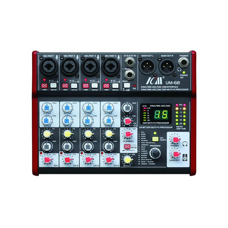 24 Bit di Interfaccia Mixer Built-in 16 Effetti