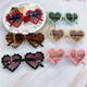 Fashion heart shaped plastic cute love sunglasses for kids, sunglasses for girls and boys