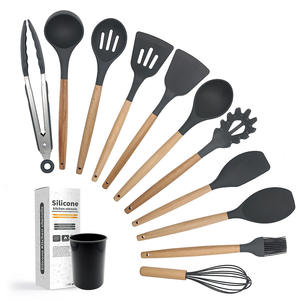 Wholesale Housewares Natural Wooden Cookware Kitchenware Set