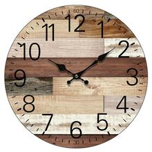 OEM European Custom Modern Home Decorative Wooden Wall Clock for Living Room