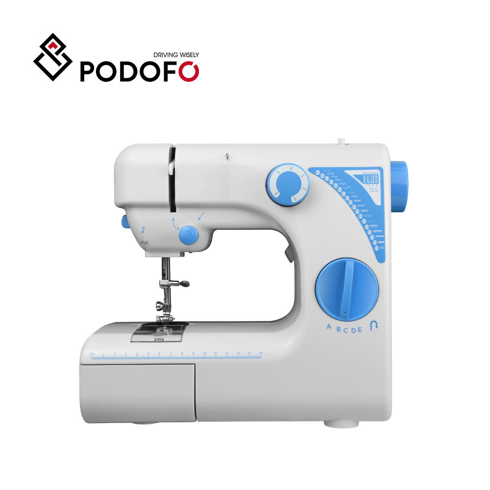 Mini Multifunction Electric Sewing Machine With 19 Stitches Foot Pedal LED Lighting Beginner Sewing Machine Accessories