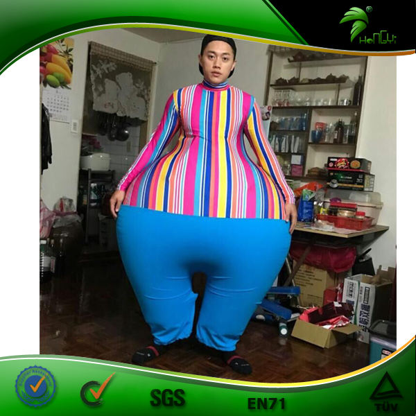 Hongyi Inflatable Costume Bondage Inflatable Sumo Suit Bouncy Inflatable White Pants