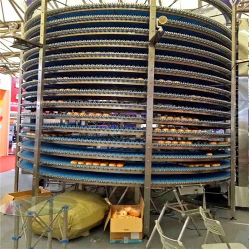 factory custom flexible vertical spiral belt conveyor for baking