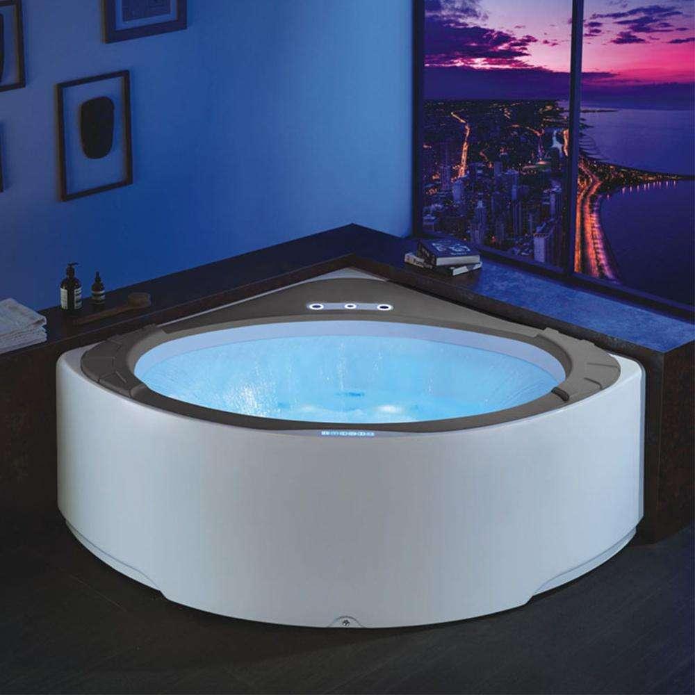 Proway マッサージ PR-8805 OEM 黒色風呂の浴槽、マッサージ正方形シャワー大人のバスタブ黒