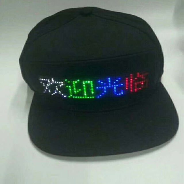 China manufacturer led running cap programmable hat post lighting for home for Christmas/festival