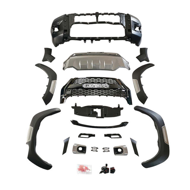 4x4 Car Accessories Front bumper for Toyota Hilux Revo Upgrade to Rocco body kit 2020
