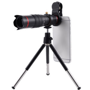 25X Smartphone Telephoto Lens Tripod Cell Phone Camera Zoom Lens Kit