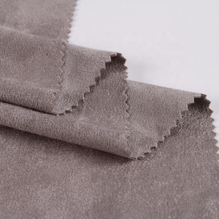 In stock 4 way stretch double sided microfiber polyester spandex faux suede fabric for jacket coat mini skirt cushion cover