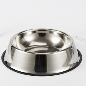 S-3XL Sizes Feeding Bowls Dog Feeders Supplies Stainless Steel Pet Bowl