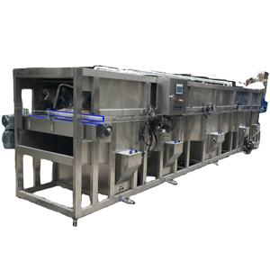 cans / canned products water immersion tunnel type continuous pasteurizing machine