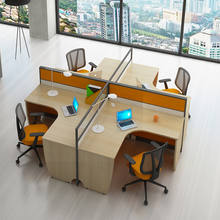 China Manufacturer Modern Modular Office Furniture Workstation 2, 4, 6 Seater Office Workstation Desk For 2, 4, 6 Person People