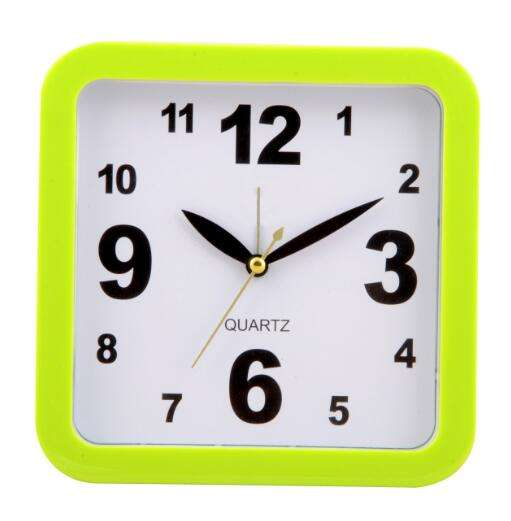 Quartz Square shape Table Plastic Alarm Clock