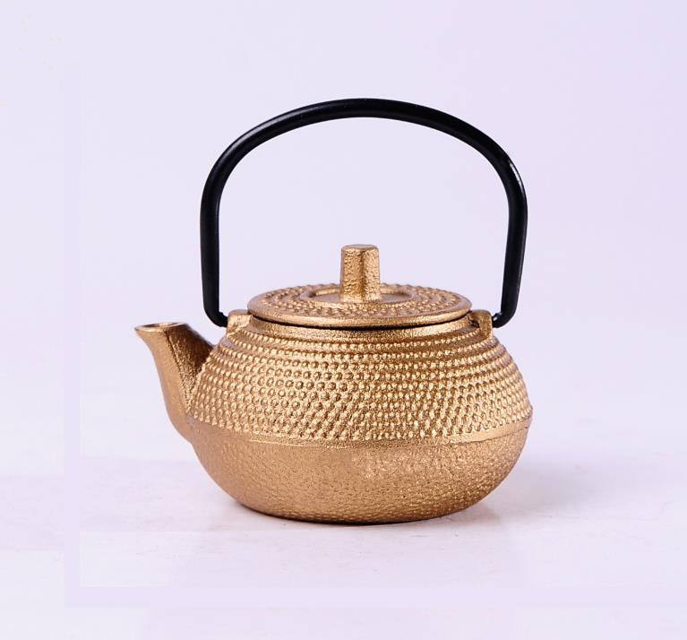 China Cast Iron Teapot Top Quality Chinese Thick Cast Iron Tea Pot with Laser Logo on the bottom of Teapot