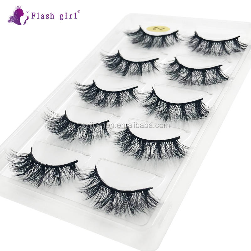 factory wholesale hot sale 5D high quality Z-02 mink eyelashes private label delivery by free DHL