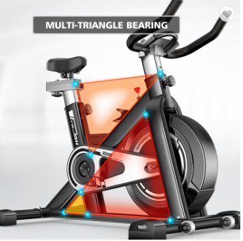 Indoor Cycling Exercise Bike, Send Stainless Steel Kettle Flywheel Adjustable Seat Home Fitness Training Pedal Exercise