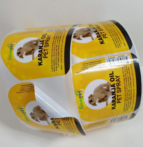 Adhesive pet Oil Bottles Labels Stickers Printing,Custom Product Labels For pet Oil Bottles