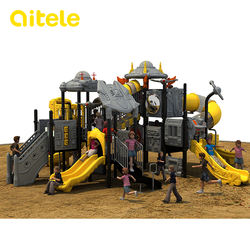 PE Plastic and New Space Ship Series for Outdoor Playground Equipment