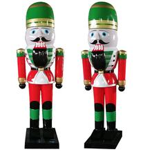Life size outdoor 5ft 8ft 12ft giant large Christmas fiberglass Nutcracker soldier decoration