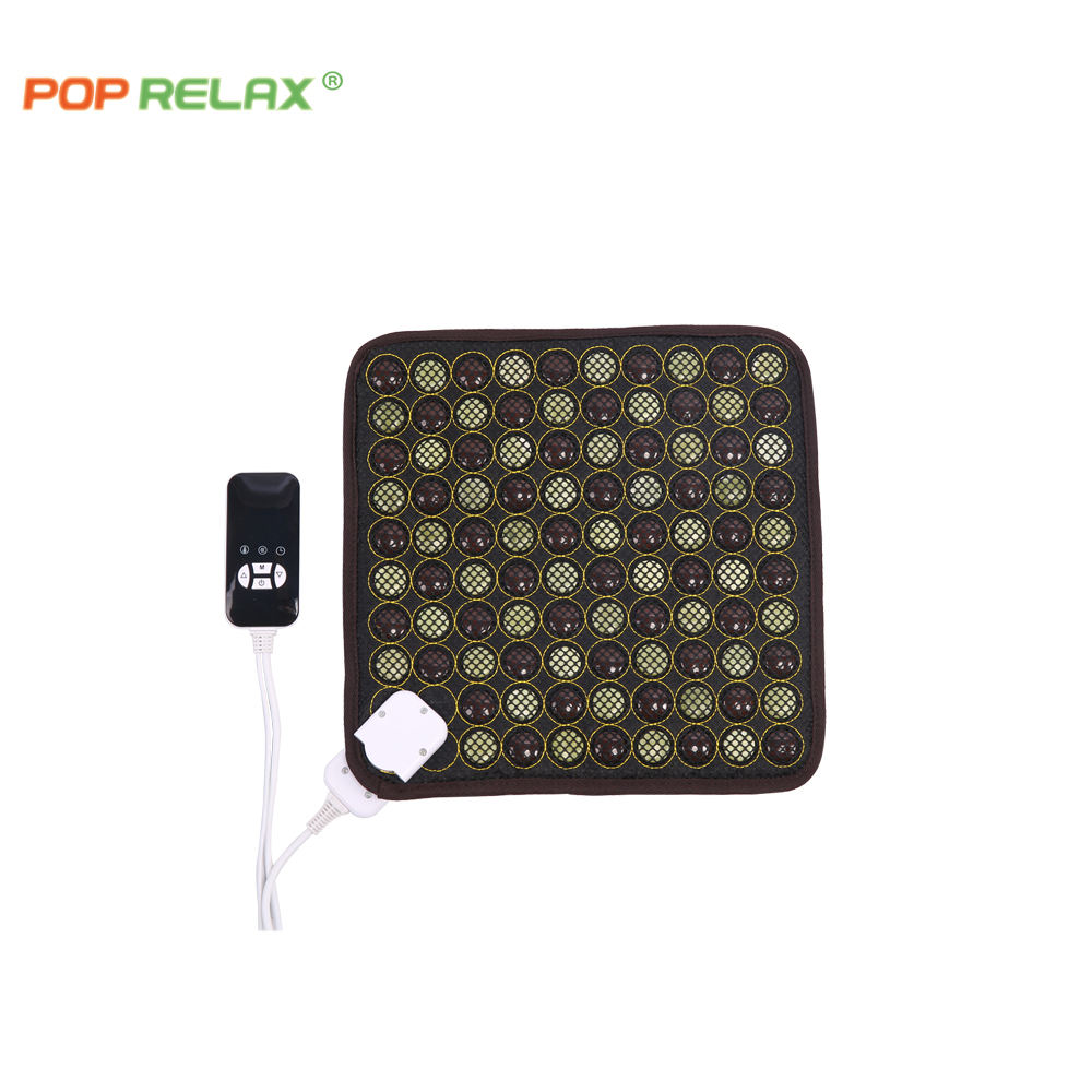 Pop Relax FDA FCC CE Reliable And Good acupuncture tourmaline jade mat acupressure health seat mat knee belt