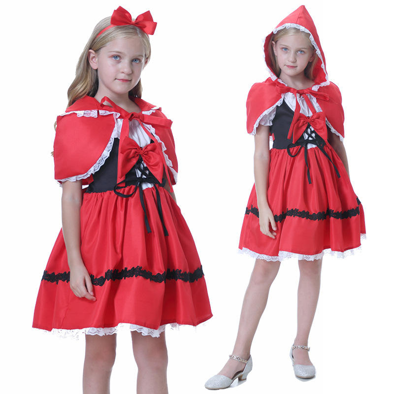 <span class=keywords><strong>Halloween</strong></span> kinder Little Red Riding Hood kostüm cosplay cosplay zeigen kleid kleid rock <span class=keywords><strong>halloween</strong></span> kostüme cosplay kinder
