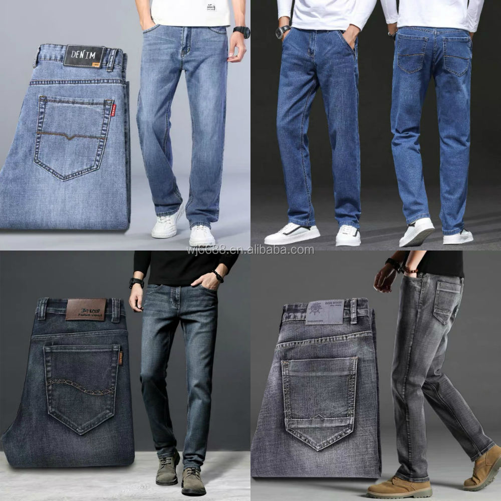 Hot sale latest custom new design fashion men clothes and jeans pants