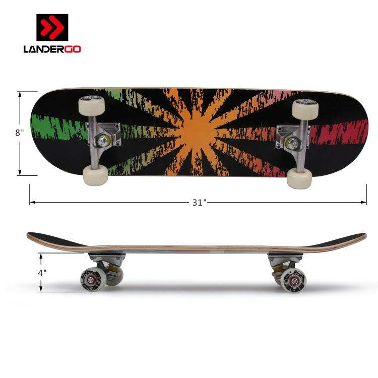 Professional speed print chinese maple wood custom deck skateboard