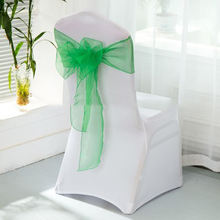 All The Product Model Wedding Hotel Celebration Organdy Chair Back Cover Decoration Chair Sashes