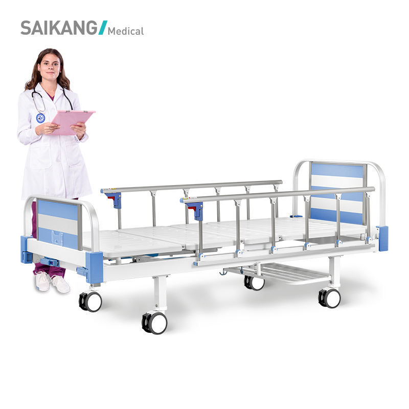 T2k SaikangCommercial Furniture Economic Hospital Folding Manual Bed With Potty-Hole