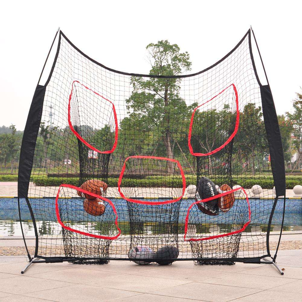 Training Equipment rugby QB Pass Accuracy Target Practice Quarterback Net American Football Trainer Throwing Net