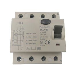 YTGEE 3 Phase Residual Current Circuit Breaker 40a Rccb With 4pole Used For Ev Chargers 50/60hz