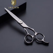 Damascus pattern hairdressing scissors hair cutting barber scissors  in 6 inch