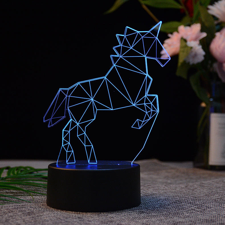 DIY LED แบตเตอรี่ Powered Wireless Night Light USB ชาร์จไฟ Led Unicorn