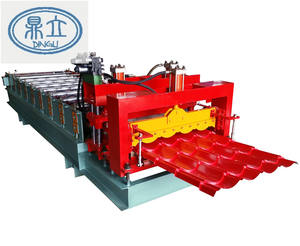 aluminium glazed steel roof tile roll forming machine
